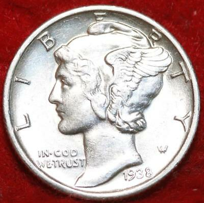Uncirculated 1938-S San Francisco Mint Silver  Mercury Dime