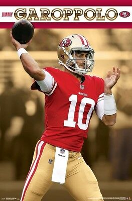 80d6803a1 JIMMY GAROPPOLO San Francisco 49ers Quarterback NFL Football Action WALL  POSTER