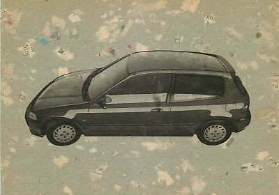 Recycled Paper Advertising Postcard 1994 Honda Civic VEi