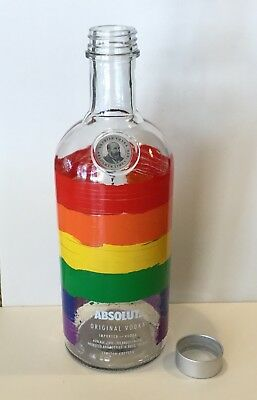 ABSOLUT RAINBOW Vodka Painted Bottle Limited Edition 750ml Gay Pride Colors