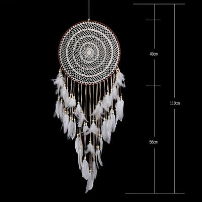 Large Dream Catcher Wall Hanging Decoration Ornament Handmade Feather Craft DIY