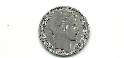 France 1933 10 francs silver coin