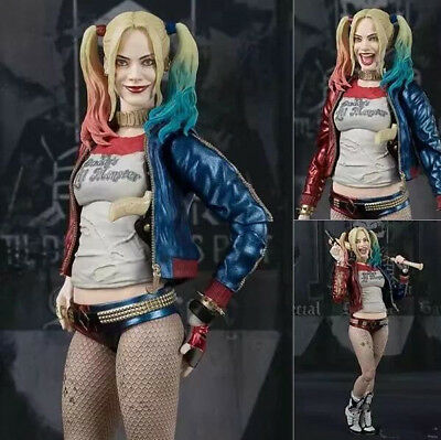 """2018 SHF Suicide Squad Harley Quinn 6"""" PVC Action Figure Toy Gift No box"""