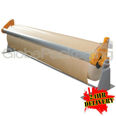 2 x 750mm KRAFT GIFT PAPER BROWN ROLL DISPENSERS FOR WALL BENCH ETC KXPD750