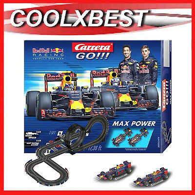 Carrera Go Red Bull F1 Max Power Slot Car Set Ricciardo Verstappen 5.3M