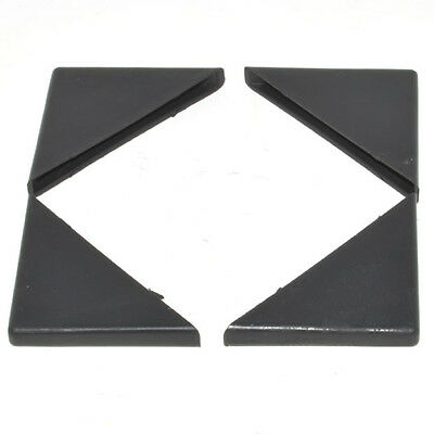 4mm BLACK PLASTIC CORNER PROTECTORS PANEL GLASS 35 x 35mm PICTURE FRAMES TYPE A