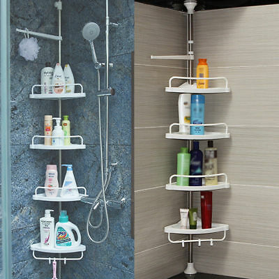 4-Tier Bathroom Bathtub Shower Caddy Holder Corner Rack Shelf Organizer Kitchen