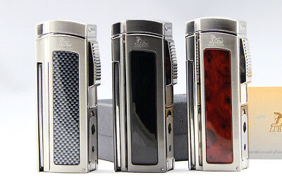 Cohiba Classic Metal 4 Torch Jet Flame Cigar Lighter With 2 Punch Cutter