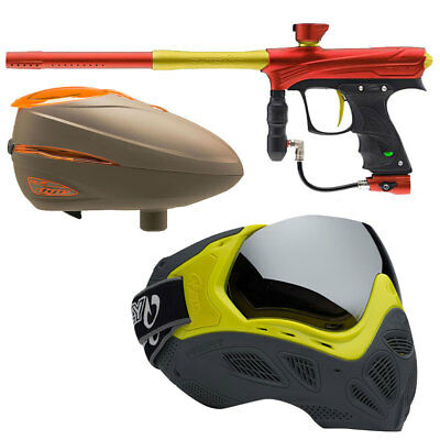 Proto MaXXed Rize red/gold, Dye R2 Rotor Lava, Profit Maske LE Highlighter/Grey
