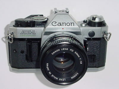 Canon AE-1 PROGRAM 35mm SLR Film MANUAL Camera with Canon 50mm F/1.8 FD Lens