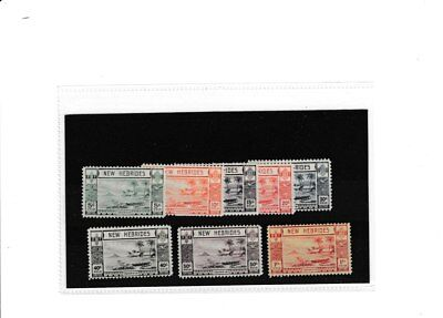 NEW HEBRIDES STAMPS. 1938 ISSUE, PART SET TO 1f. M/M. CAT £ 30.00.