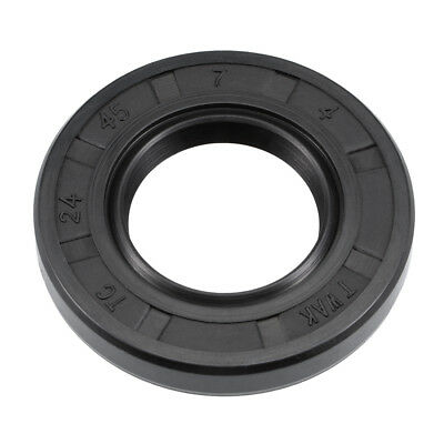 Oil Seal, TC 24mm x 45mm x 7mm, Nitrile Rubber Cover Double Lip