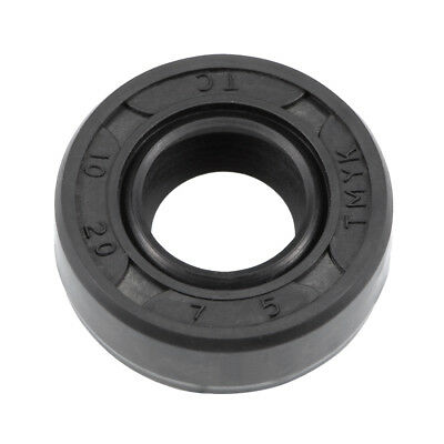 Oil Seal, TC 10mm x 20mm x 7mm, Nitrile Rubber Cover Double Lip
