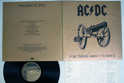 AC/DC FOR THOSE ABOUT TO ROCK WE SALUTE YOU ATLANTIC P-11068A Japan VINYL LP