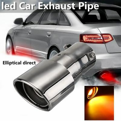 Universal 63mm Car Spitfire Flaming LED Red Light Exhaust End Pipe Muffler Tip