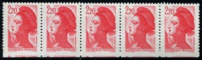 Pack N°4750 France Variety N°2376 Book of 5 stamps plus grands New LUXE