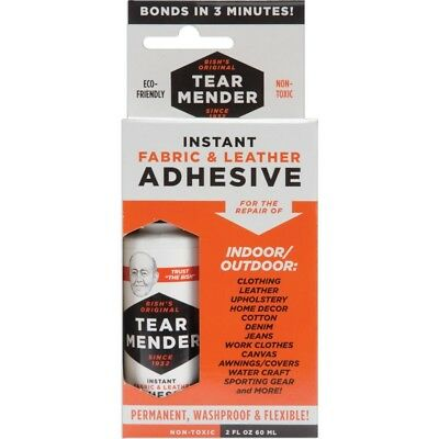 Tear Mender Instant Fabric And Leather Adhesive, 2 Oz Bottle-carded, Tm-1 -