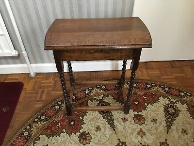 Antique solid oak small table