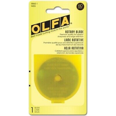 Olfa 60mm Rotary Blades, 1-pack - Spare Cutters Replacement