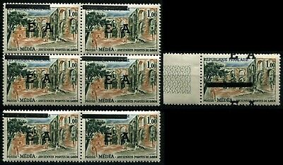 Pack N°7073 State Algerian N°363 x 7 ex. with overload horse New LUXE