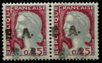 Pack N°7019 State Algerian N°355 Pair Double overload New LUXE