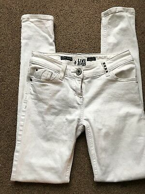 River Island Low Waisted White Skinny Jeans Size 6