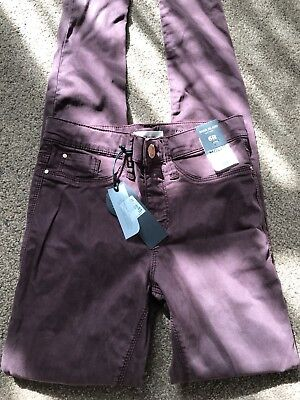 New River Island Dark Red Molly Mid Rise Skinny Jeans Size 6