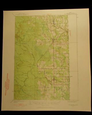 Bridgewater Maine 1952 vintage USGS Topographical chart map