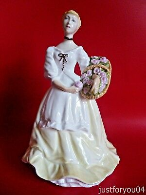 Royal Worcester Spring Fair Figurine 1978 - Lemon Dress - Lovely Condition