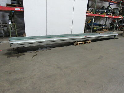 "Crizaf LH18""x24' Slide Bed Belt Conveyor No Motor or Gearbox"