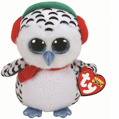 Ty Beanie Babies Boos Nester Christmas Owl Plush Soft Toy New With Tags