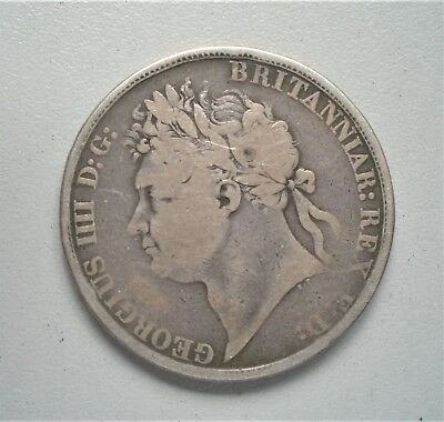 King George 1111 Silver Crown 1822,Tertioo,  Fine  condition {C110}