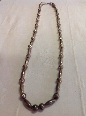 VINTAGE INDIAN NATIVE AMERICAN JEWELRY Necklace Large Sterling Silver