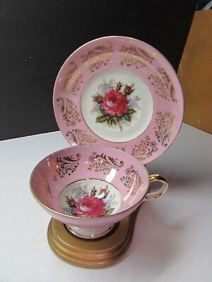 Vintage Royal Sealy Roses Cup And Saucer Set