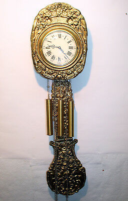 Old Wall Clock Chime Clock Comtoise *WESTMINSTER * in brass
