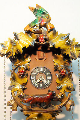 Old Cuckoo Clock Wall clock Chim Cuckoo Black Forest made in Germany 3 Day