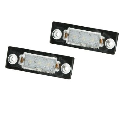 Licence plate number light LED bulb x2 VW T5 Passat Caddy Touran Golf Plus Skoda