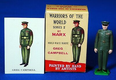 Marx WARRIORS OF THE WORLD WW II American GREG CAMPBELL + Card in Box 1960s