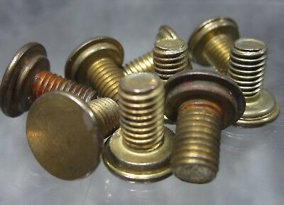 """LOT of 5 NOS Solid Brass 1/4-27 X 3/8"""" Finial Screws"""