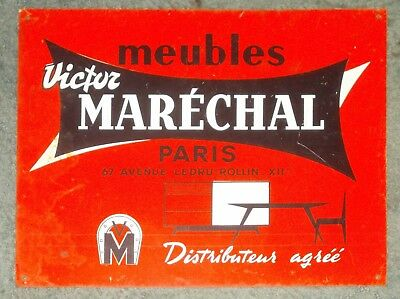 Old French Metal Sign Marechal Paris