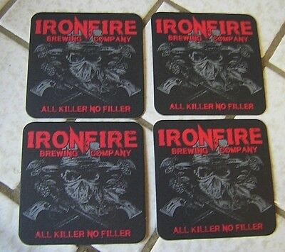 Ironfire Brewing Company Beer Coasters ~ Temecula, CA ~ NEW ~ LOOK!
