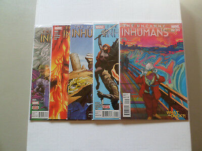 "2015 Uncanny Inhumans 1ST STORYLINE ""Complete Set"" of 5 Comics (000/1-4) NM/1ST!"