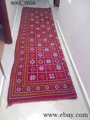 Antique art of carpet and hand made Moroccan length of 3.08 and width of 1.66