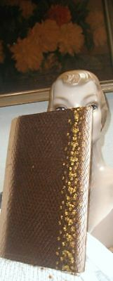 Vintage 1930s FRENCH Silk Puff Millinery Veiling Chenille Gold & Nutmeg