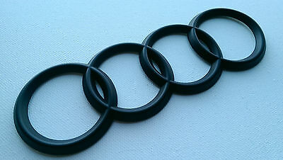 Black Audi Badge Rear Matt / Satin Four Rings A3 A4 A5 A6 A4 Tdi S Line