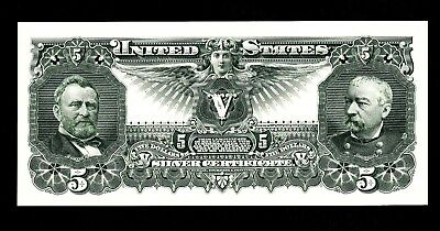 Proof Print or Intaglio Impression by BEP - Back of 1896 $5 Educational Note
