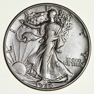 1940 Walking Liberty 90% Silver US Half Dollar *096