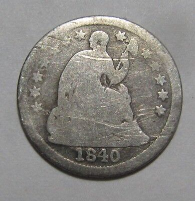 1840 Seated Liberty Half Dime - Circulated Condition - 90FR