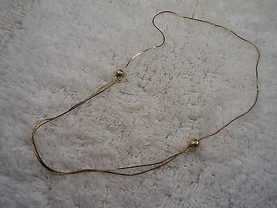Adjustable Length Goldtone Chain Necklace (A52)