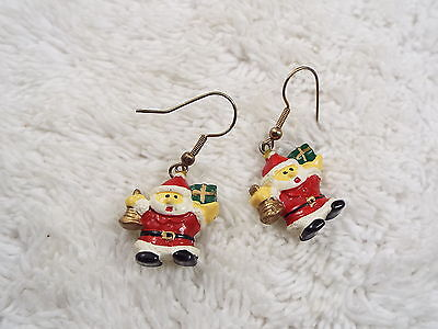 Christmas Santa Claus Pierced Earrings (C20)
